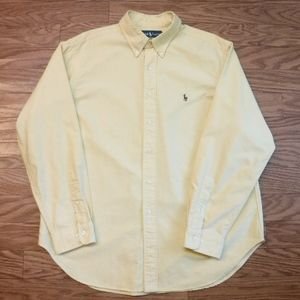 *Ralph Lauren Yellow Button Down Shirt* Great